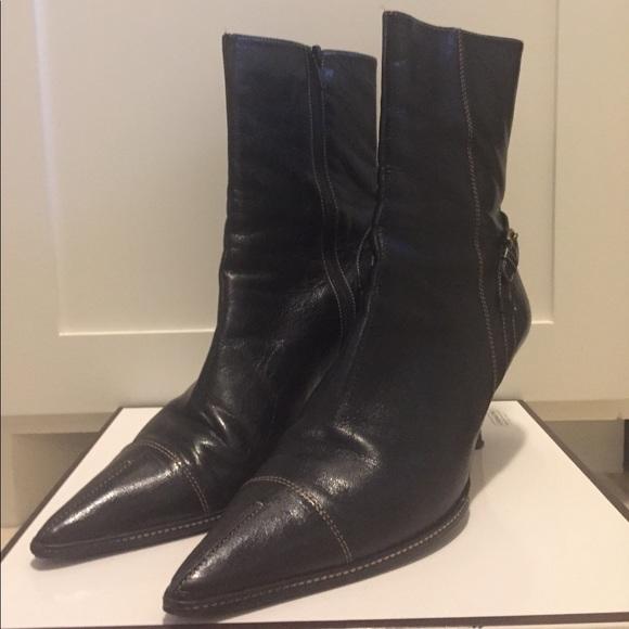 "bae1a3a0565f7 Vintage COACH Black ankle boots ""SEANNA"" size 10"